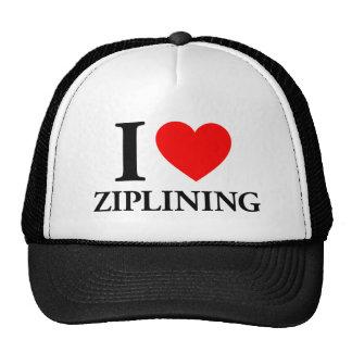 I Love Ziplinig Trucker Hat