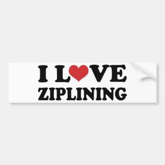 I Love Ziplining Bumper Sticker