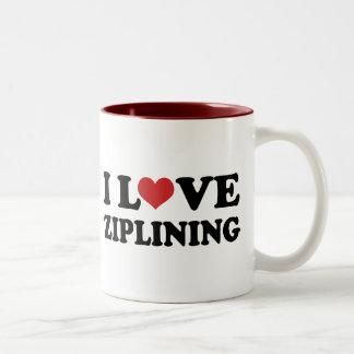 I Love Ziplining Coffee Mugs