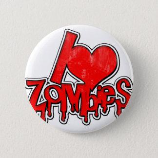 I Love Zombies 6 Cm Round Badge