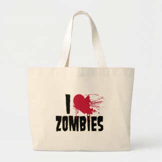 I love zombies canvas bags