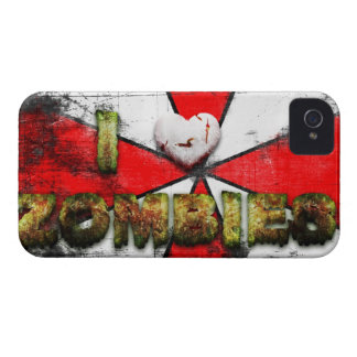 I Love Zombies . .  Great Gift For A Zombie Lover iPhone 4 Covers