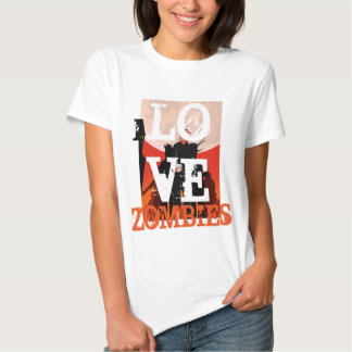 I Love Zombies Halloween Party T Shirt