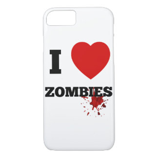 I love zombies iPhone 7 case