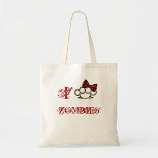 I Love Zombies - KnuckleBow Tote Bags