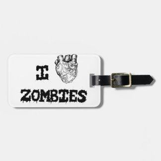 I love Zombies Luggage Tag