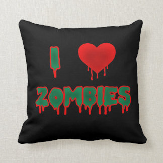 I Love Zombies Pillow