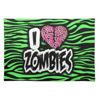 I Love Zombies Placemat