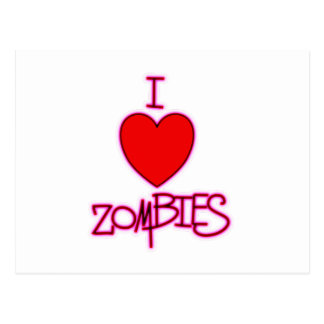 I Love Zombies! Postcard