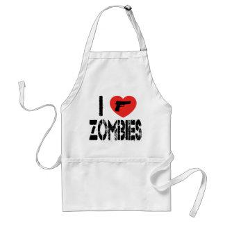 I Love Zombies Standard Apron