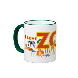 I Love Zoo Ringer Mug