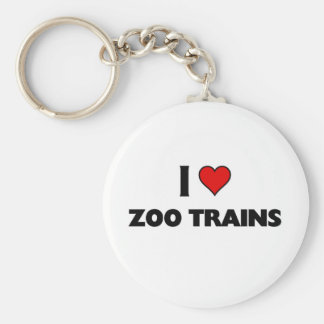 I love zoo trains key ring