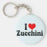 I Love Zucchini Keychains
