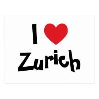 I Love Zurich Postcard