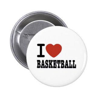 I LOVEMYBASKETBALL 6 CM ROUND BADGE