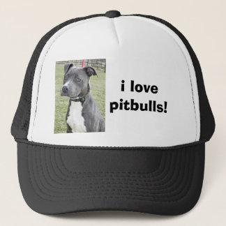 i lovepitbulls! trucker hat
