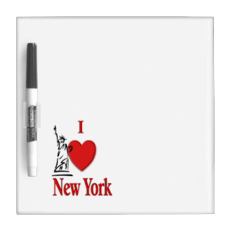 I Lover NY Dry Erase Board
