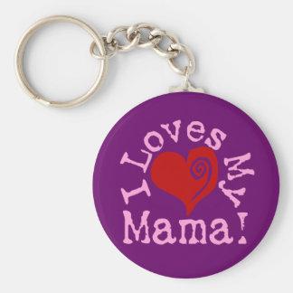 I loves my Mama Basic Round Button Key Ring
