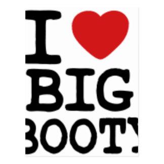 I LOVGE BIG BOOTY POSTCARD