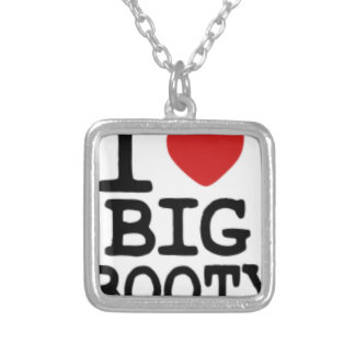 I LOVGE BIG BOOTY SILVER PLATED NECKLACE