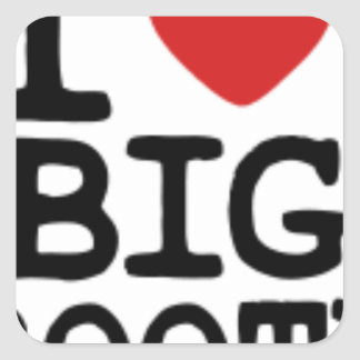 I LOVGE BIG BOOTY SQUARE STICKER