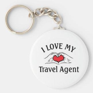 I lovve my travel Agent Basic Round Button Key Ring