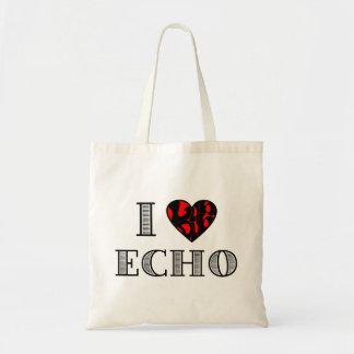 I LubDub Echo Red Tote Bag