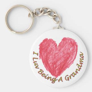 I Luv Being A Grandma Keychain