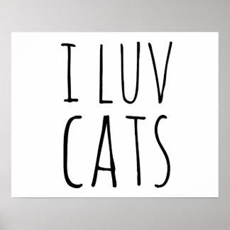 I Luv Cats Print