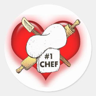 I Luv My Chef Round Sticker
