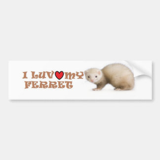 I Luv My Ferret Bumper Sticker