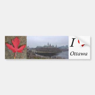 I luv Ottawa bumper sticker of Parliament Hill