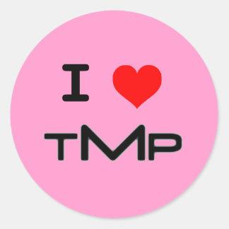 I LUV TMP (pink) Round Sticker
