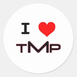 I LUV TMP (white) Round Sticker