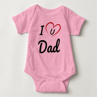 I Luv U Dad Baby Bodysuit
