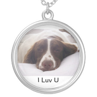 I Luv U Silver Plated Necklace