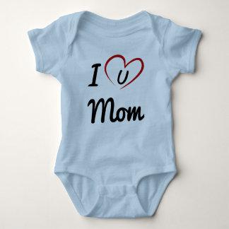 I Luv you Mom Baby Bodysuit