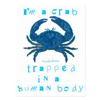 I m a Crab Postcard