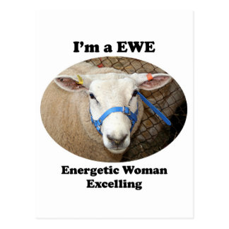I m a EWE Energetic Woman Excelling Post Card