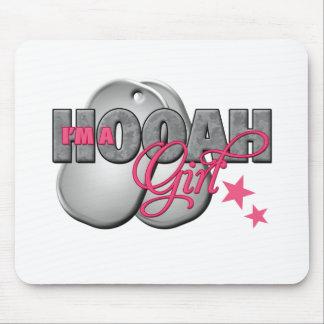 I m a Hooah Girl Mouse Pads