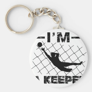 I'm a Keeper – Soccer Goalkeeper designs Basic Round Button Key Ring