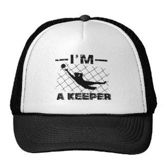I'm a Keeper – Soccer Goalkeeper designs Cap