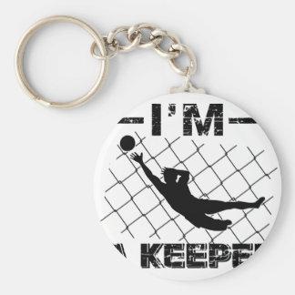 I'm a Keeper – Soccer Goalkeeper designs Key Ring