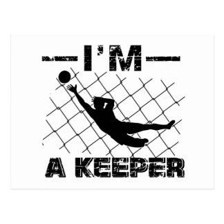 I'm a Keeper – Soccer Goalkeeper designs Postcard