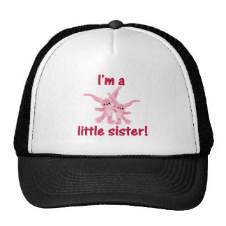 I m a little sister pink bunnies mesh hat