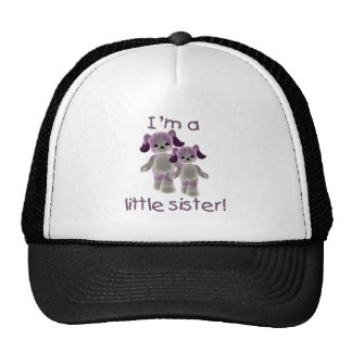 I m a little sister purple puppies mesh hat