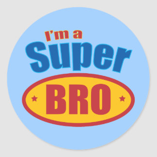 I m a Super Bro Super Hero Brother Sticker