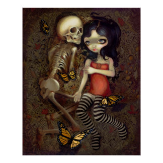 I m Almost With You ART PRINT skeleton gothic