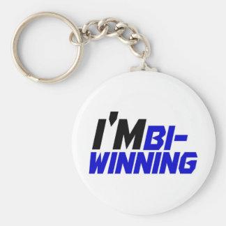 I m Bi- Winning Keychain