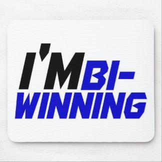 I m Bi- Winning Mouse Pads